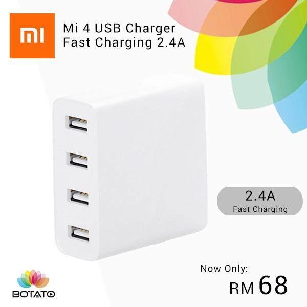 [[Original Xiaomi Mi USB Charger 4 Ports]] USB 4 Port Charger Fast ...