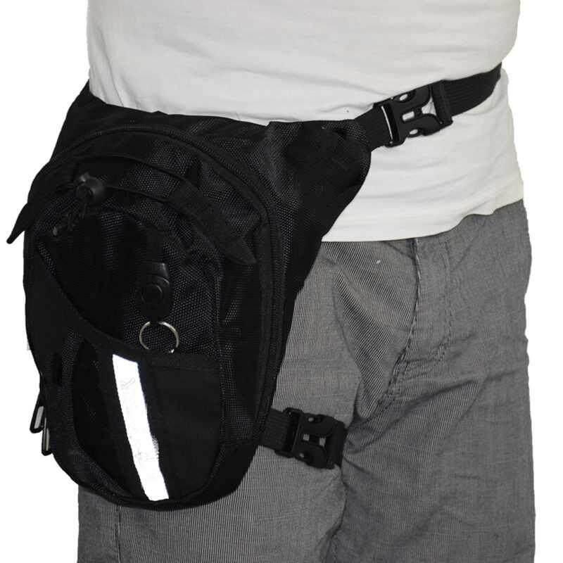 Waist Leg Thigh Drop Bag Motorcycle Riding Belt Pack - intl, 7.78, Update. Men Canvas ...