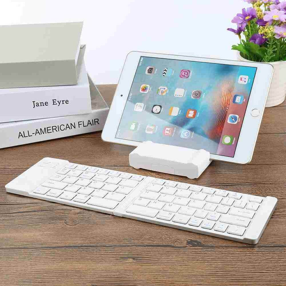 Dongxi 2018 Baru Kreatif dan Fashion Dua Kali Lipat Foldable Bluetooth Papan Ketik Nirkabel untuk Komputer Windows PC Macbook-Intl