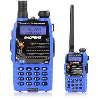 Harga preferensial Baofeng UV-5RA Biru Perangkat Genggam Dua Gelombang Radio Transceiver Walkie Talkie Kami beli sekarang - Hanya Rp337.485