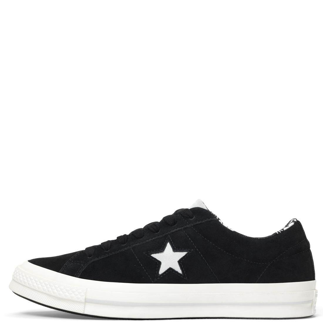 CONVERSE ONE STAR OX BLACK/MOUSE/ EGRET 160584C ...