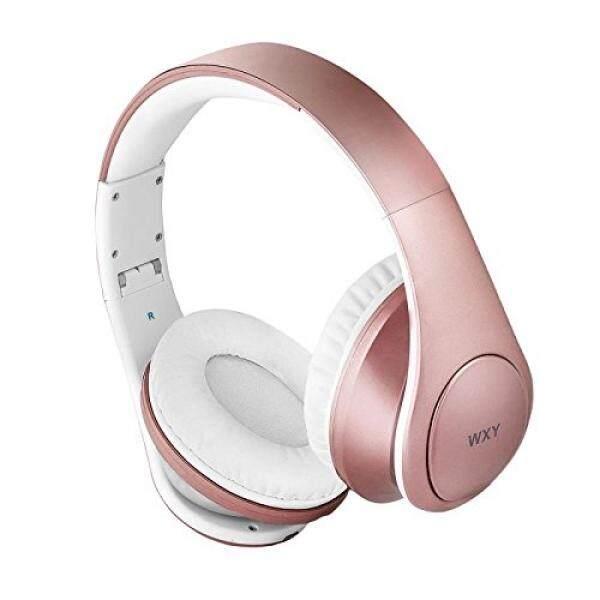 Headphone Nirkabel Bluetooth, Lebih-Telinga Bluetooth 4.2 Headphone, wxy Lipat HIFI Stereo Headset dengan Mikrofon untuk Anak Perempuan Di Buah iPhone Televisi dan Perangkat Bluetooth Lainnya, mawar Emas-Internasional