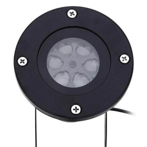 110 - 240V 4W LED WATERPROOF HEART LIGHT LANDSCAPE PROJECTOR LAMP (BLACK)