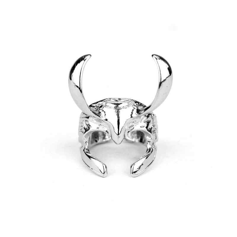 Film Dunia Gelap Thor Loki Helm Paduan Lingkaran Pria Modis Perhiasan-Internasional