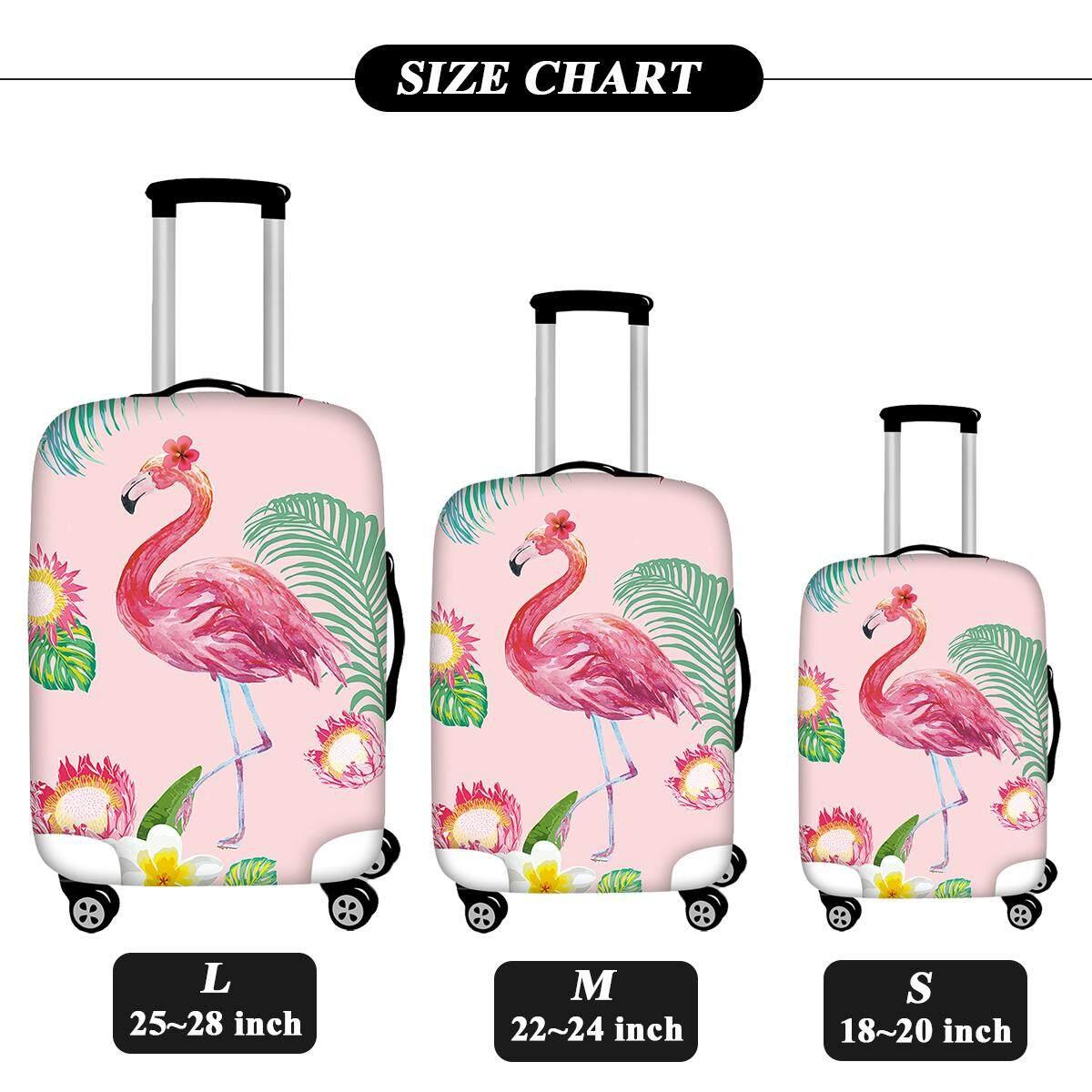Fitur Premium Sarung Koper Elastis Luggage Cover Elastic Pelindung Ito 22 Travel Trendy Pink Flamingo Women Girls Decor Suitcase Covers Case