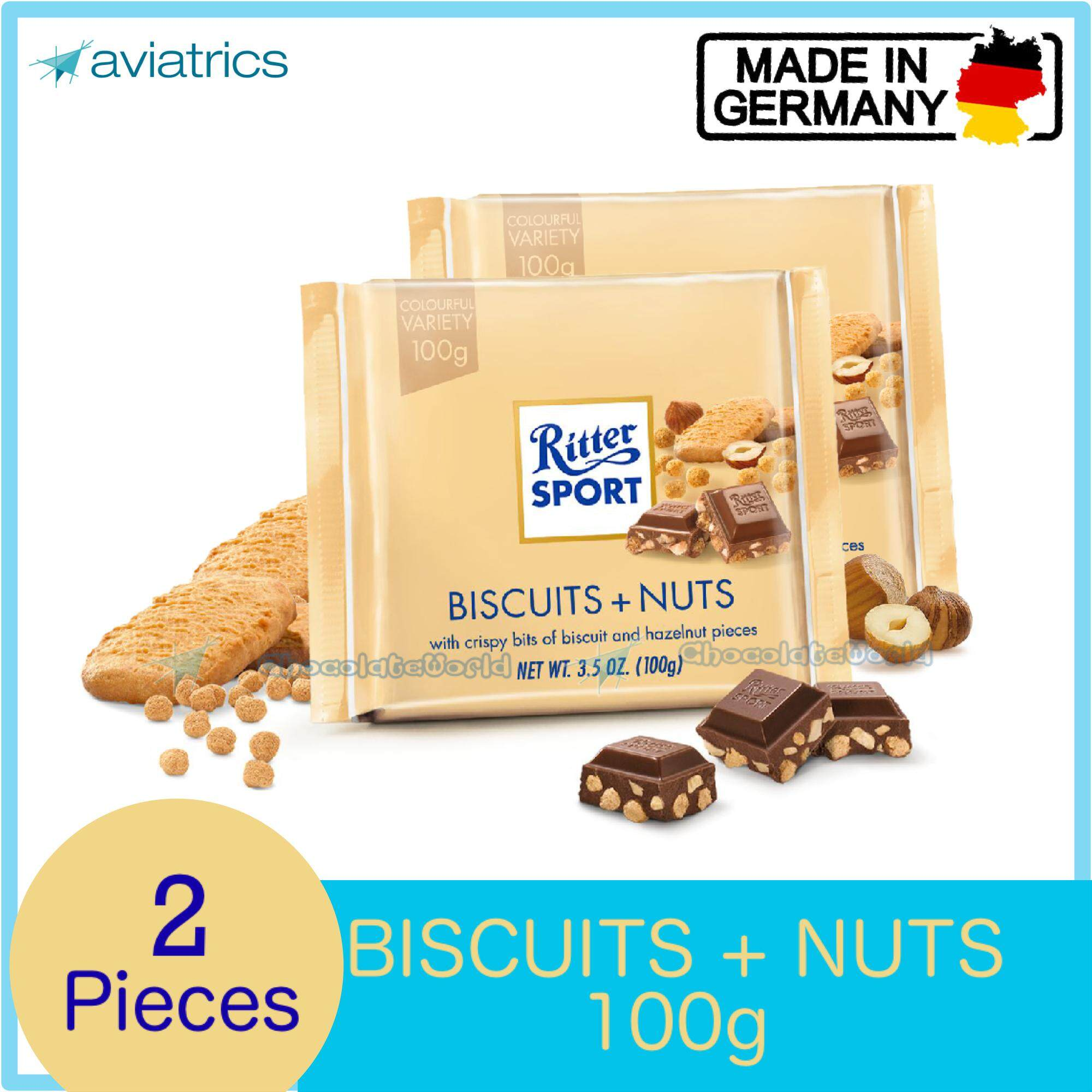 Ritter Sport Biscuits + Nuts 2 X 100g