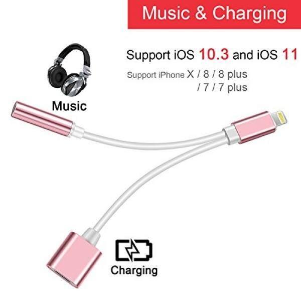 Suppinner 2 Dalam 1 Petir untuk 3.5 Mm Audio Mendongkrak Adaptor 2A Cepat Pengisian Daya Kabel
