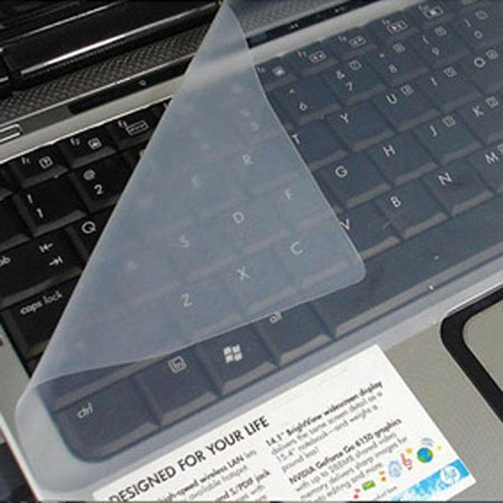 moppm Clear White Universal Silicone Keyboard Protector Skin Cover For 14 Inch Laptop Notebook