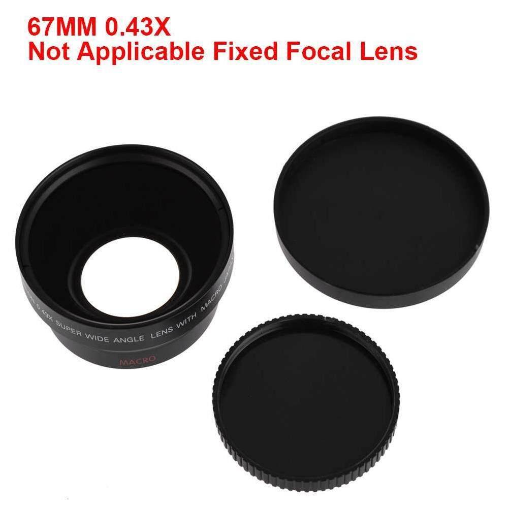 Ytri 67 Mm 0.43X Close Up Potret Blur Makro Sudut Lebar Lensa Kamera untuk Semua 67 Lensa 20 Mm Hitam-Internasional