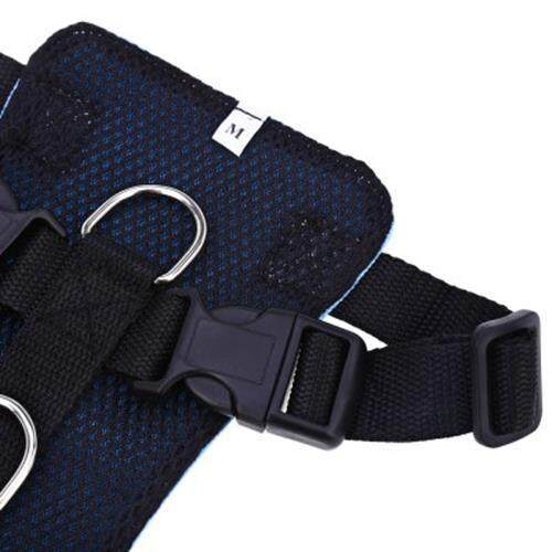 PET VEHICLE SAFETY SEAT BELT ADJUSTABLE DOG LEASH COLLAR CHEST HARNESS (BLUE)