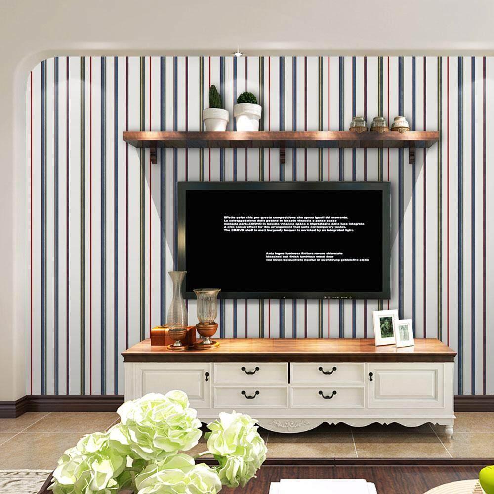 huaxian 3D Waterproof Self Adhesive Wallpaper PVC Wall Stickers For Living Room Bathroom - intl
