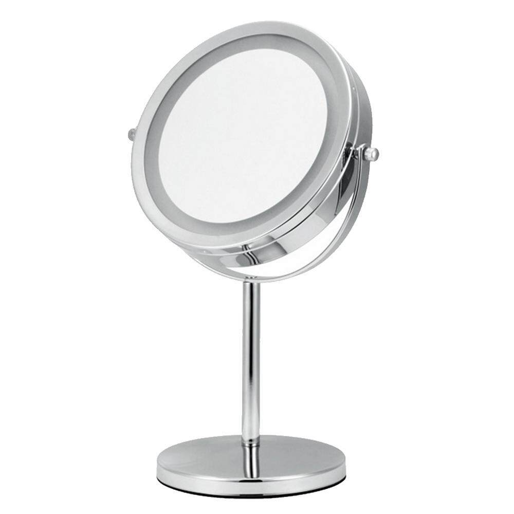yongcai Led Vanity Mirror 13 Inches Circular Lighted Makeup Mirror Double-Sided Rotating Mirror With 5x Magnification , Silver Philippines