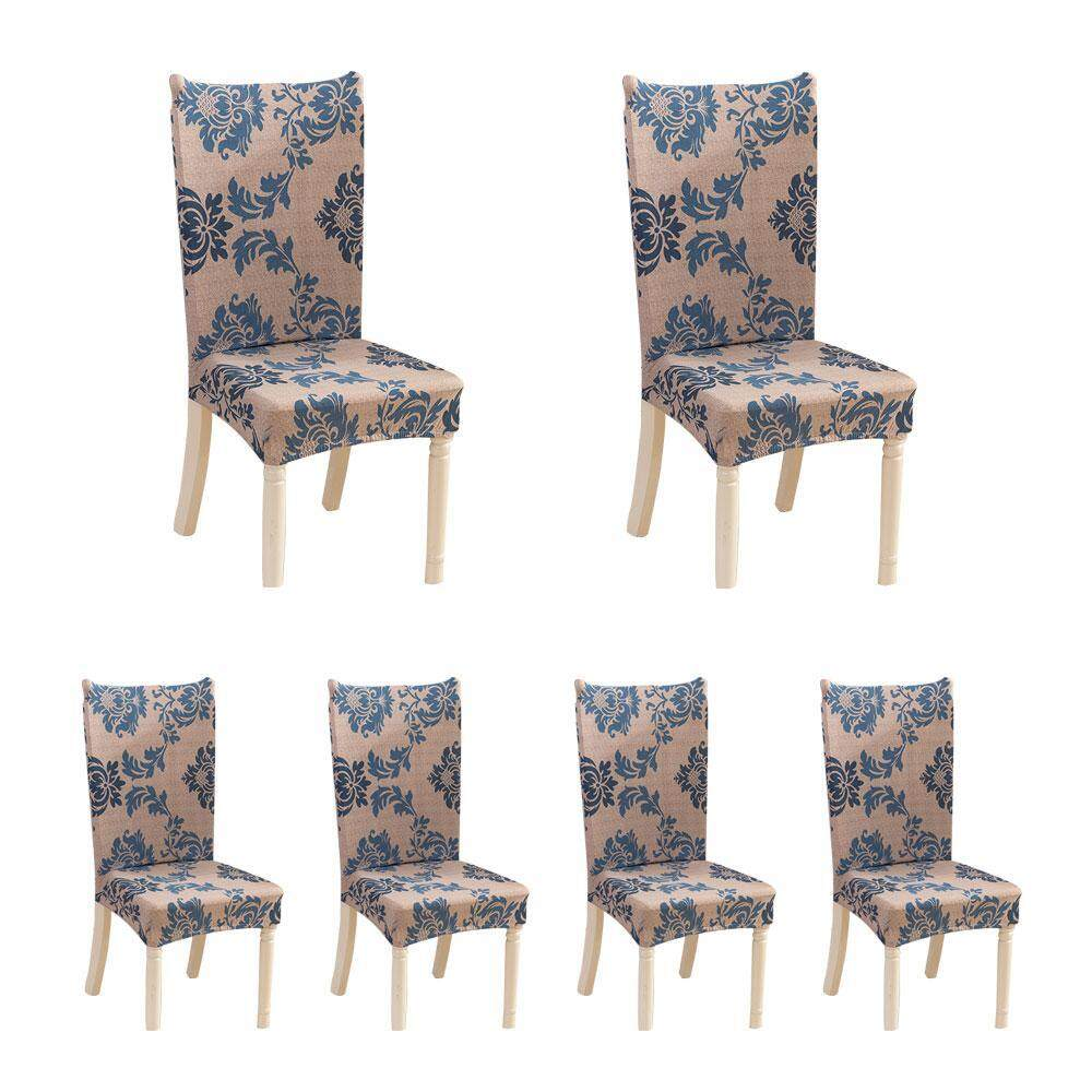 Cheapest Umiwe 6 X Soulfeel Soft Spandex Fit Stretch Short Dining Room Chair Covers With Printed Pattern Banquet Chair Seat Protector Slipcover For Home Party Hotel Wedding Ceremony Intl Online