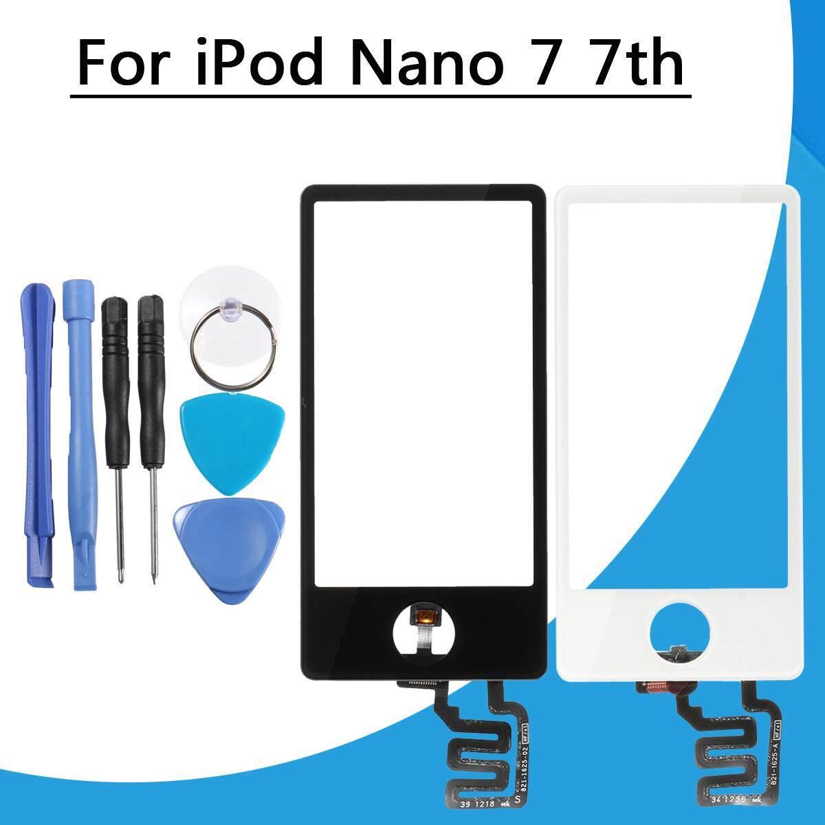 Kami Layar Sentuh Kaca Len Digitizer Ganti Bagian + Alat untuk IPod Nano 7 7th Putih-Internasional
