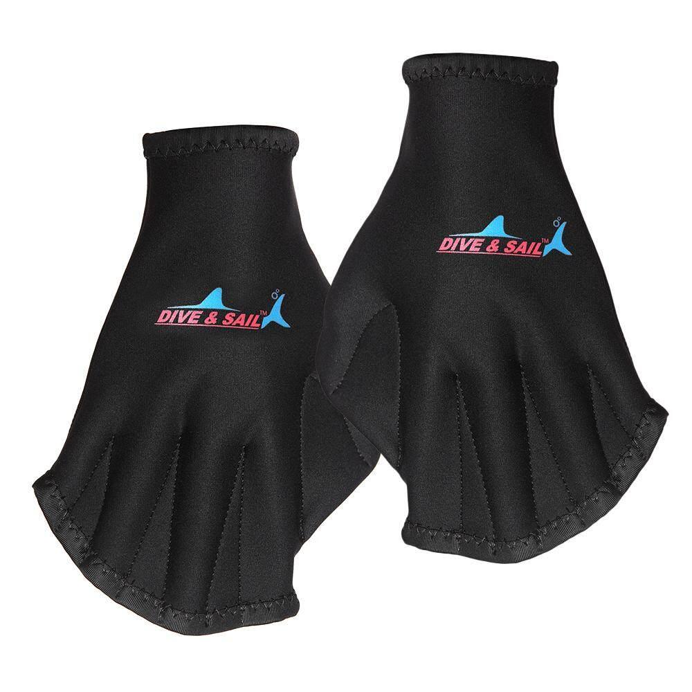 Sarung Tangan Renang Akuatik Kebugaran Sarung Tangan Berselaput Air Latihan Ketahanan Untuk Pria Wanita-Intl By Victory Team.