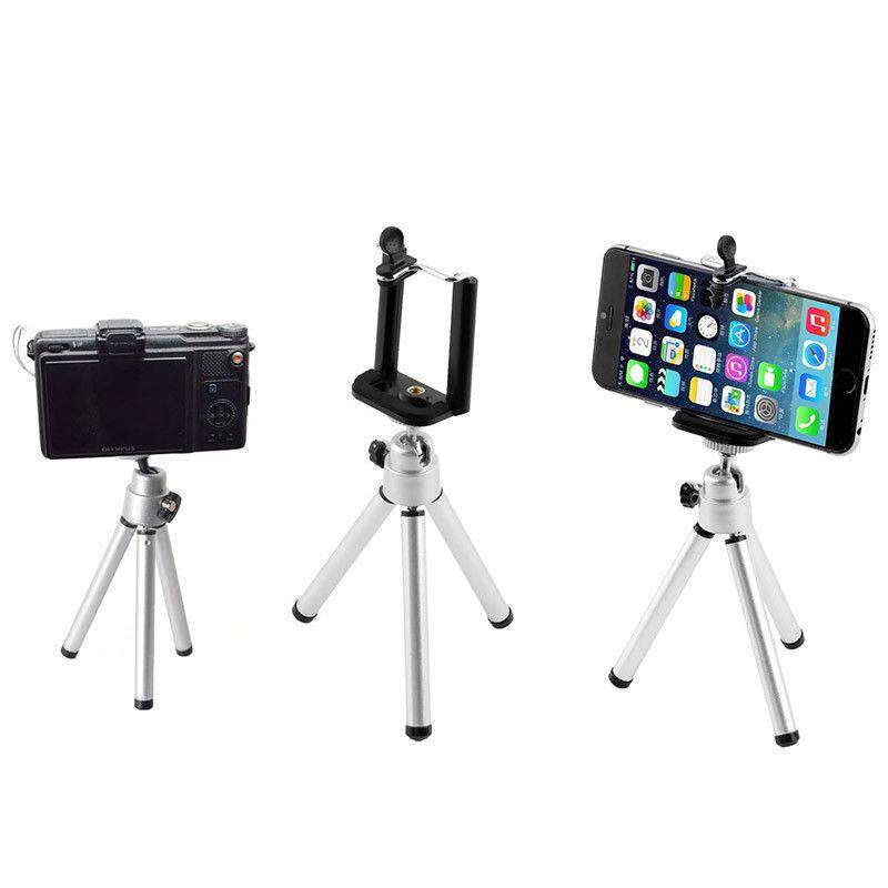 Chux Travel Tripod Stand Lightweight Extendable Portable Mini Size Phone Holder for Cellphone Camera Camcorder Photography