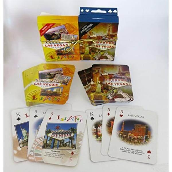 Las Vegas Souvenir, Las Vegas Siang dan Malam, Kartu Bermain Ganda Deck.-Internasional