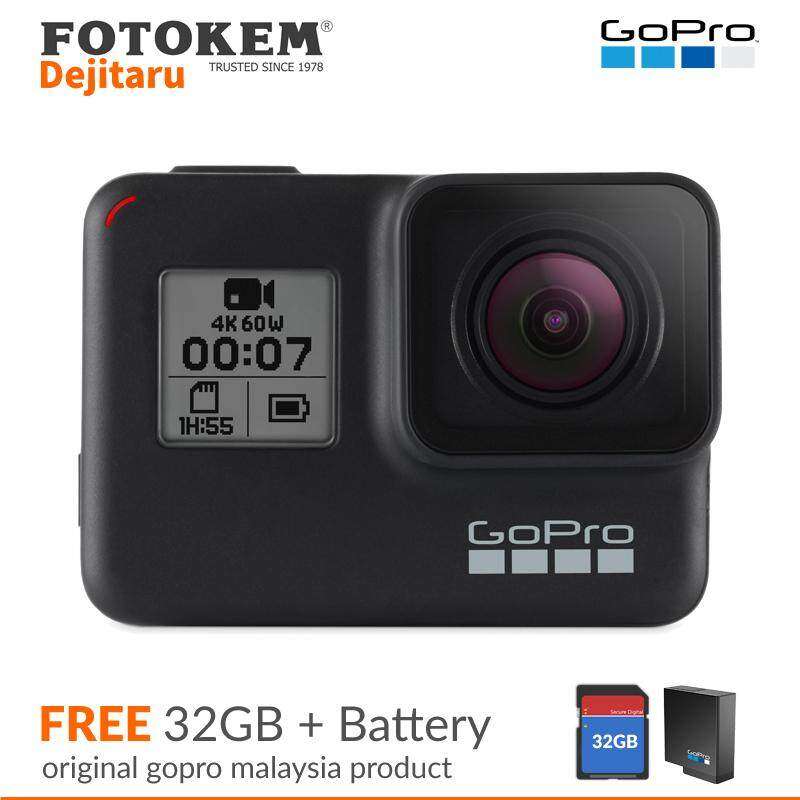 GoPro Hero 7 Black CHDHX-701RW + 32GB + Extra Battery(Funsportz Malaysia Warranty)