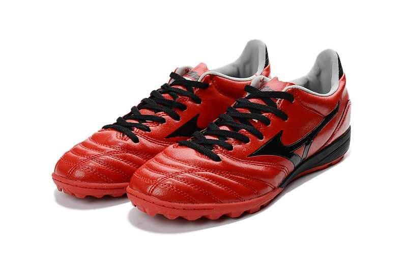 Football Mizuno Morelia Neo KL MD TF Football Shoes Men's Mizuno NEO II TF Soccer Cleats Red/Black - intl