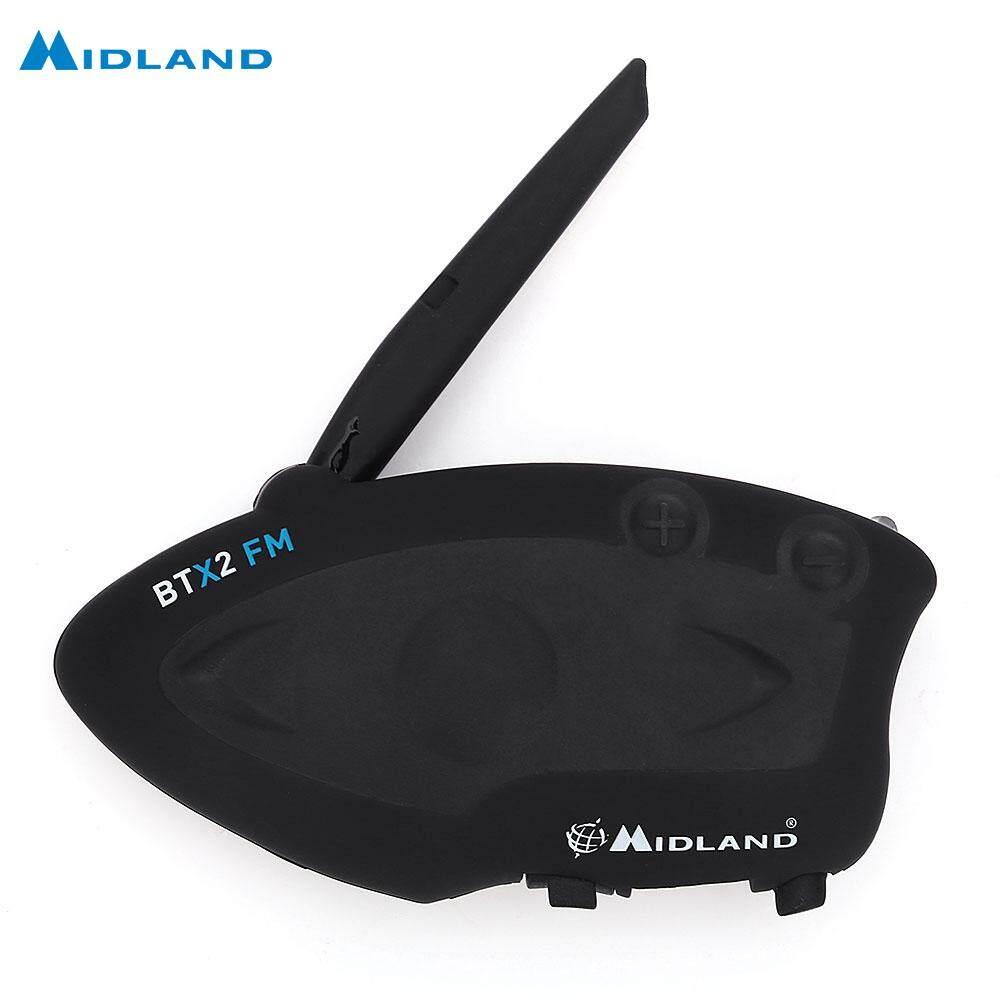 MIDLAND BTX2 FM Motorcycle Bluetooth Intercom 800M Multi-user Inter-phone - intl