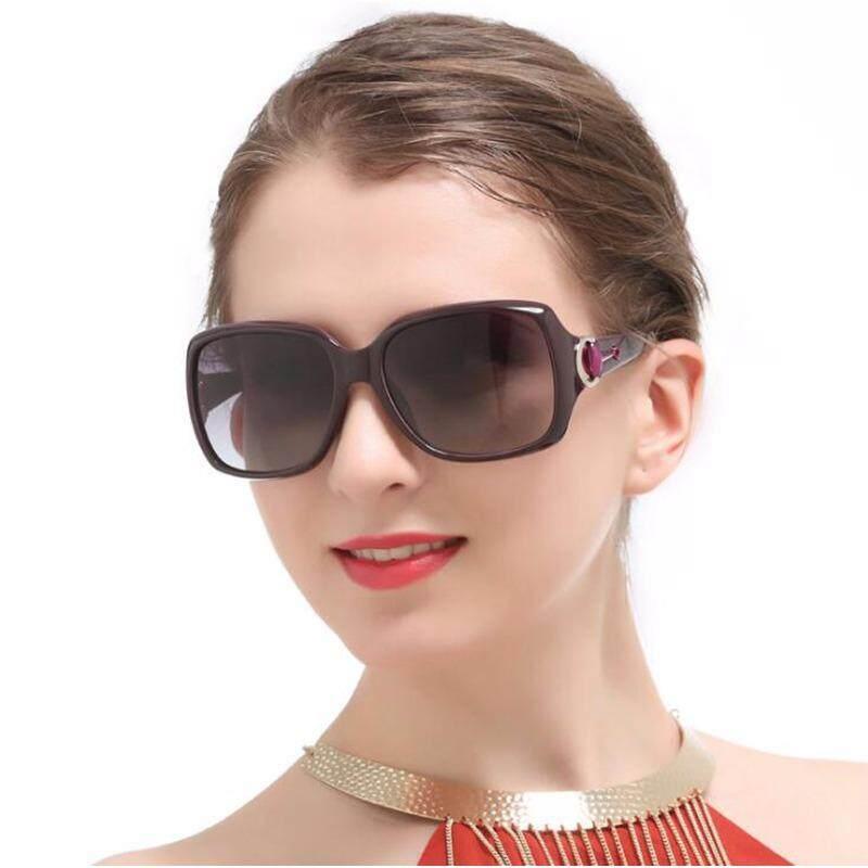 d90a3cce414e Oversized Square Vintage Women Polarized Sunglasses Black Retro Glasses