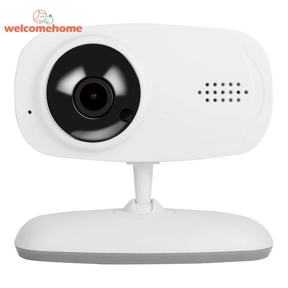 Wireless WiFi Baby Sleep Monitor Two Way Audio Night Vision 720P P2P Camera(White)-US plug