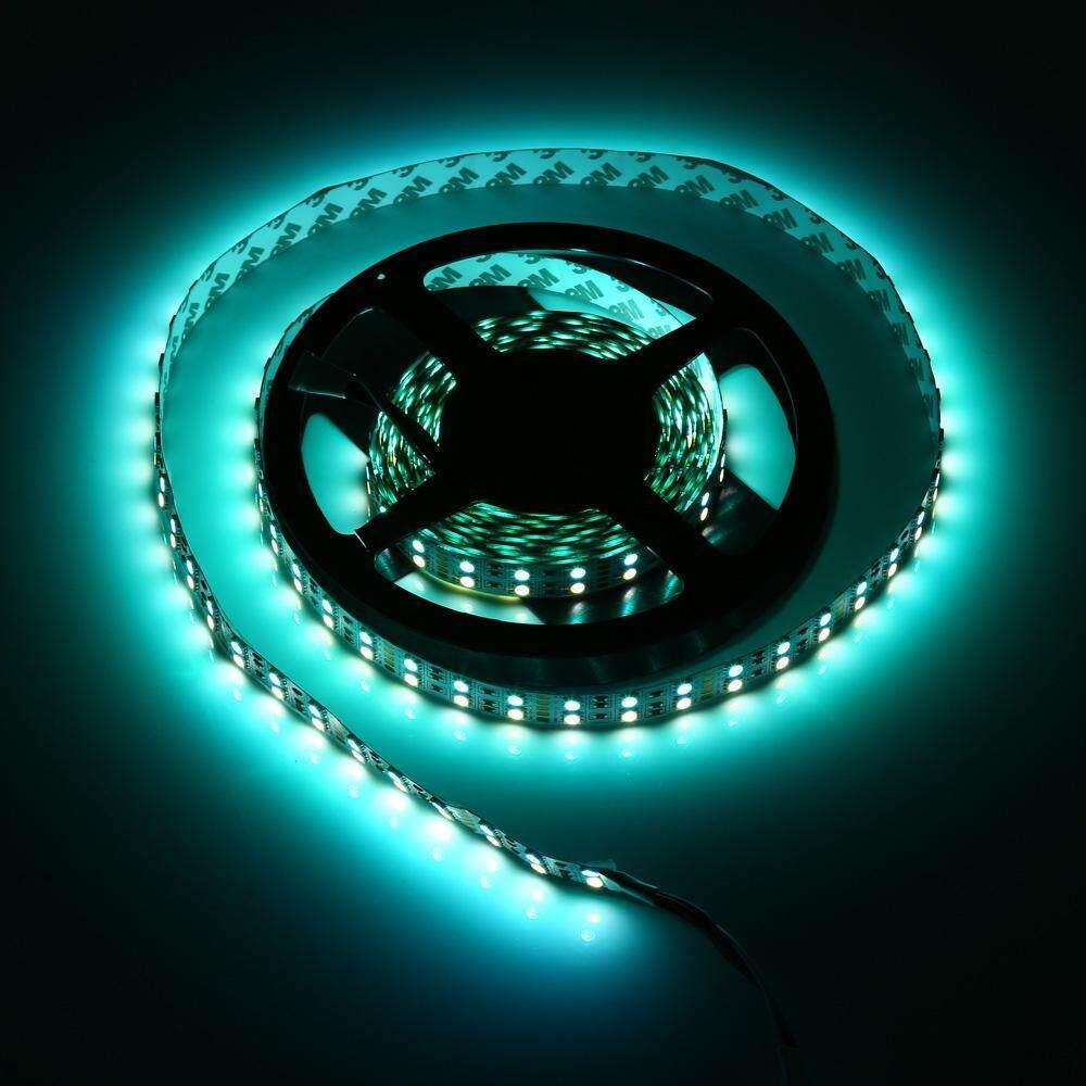 5M DOUBLE ROW 5050 SMD 600 RGB WHITE STRIP LIGHT WATERPROOF LED FLEXIBLE LAMP (BLACK, 24V - RGB + WHITE LIGHT)