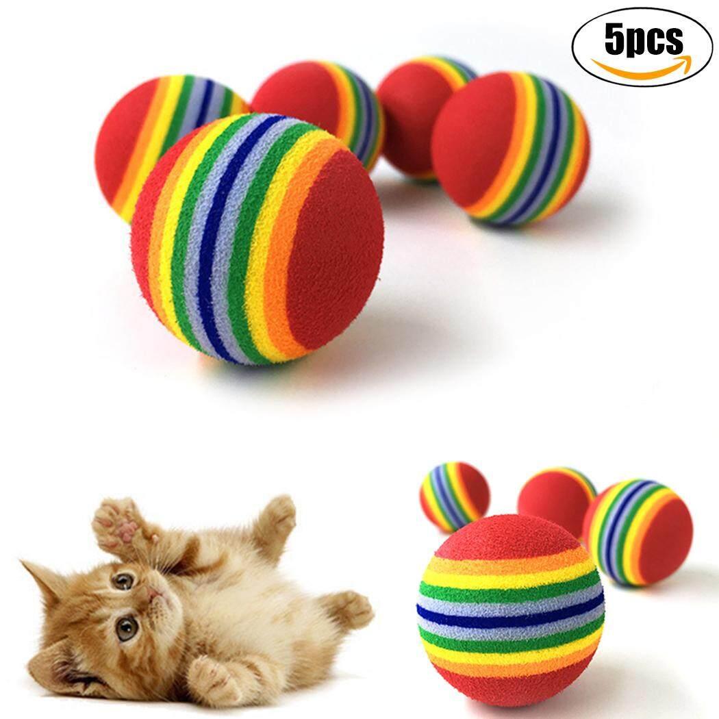 5 Pcs Kucing Pelangi Bola Pelatihan Interaktif Pelangi Bola Praktek Bola Pelangi Peliharaan Pelangi Bola-Internasional