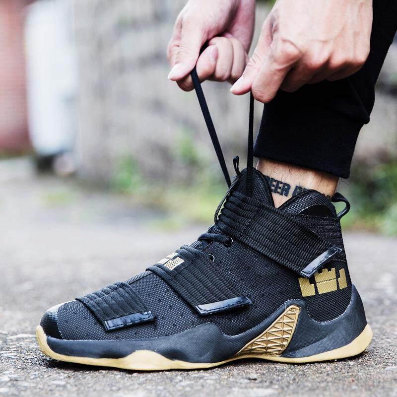Sepatu Pria Sepatu Keranjang Pria 2018 Musim Semi Baru Membantu Sepatu Tahan Lama Olahraga Sepatu Anti Guncangan Bot -Internasional