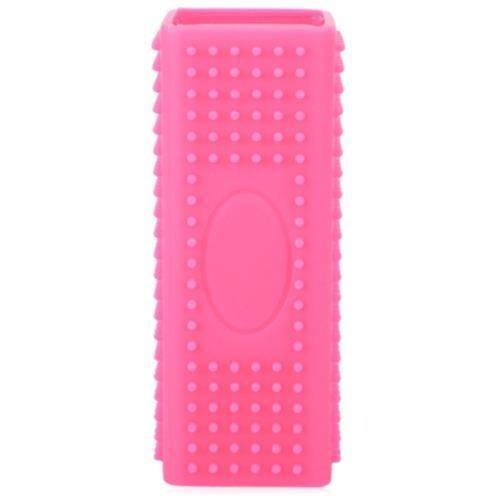 PET DOG CAT BATH BRUSH COMB DEPILATION SOFT SILICONE STICKY HAIR TOOL (ROSE RED)