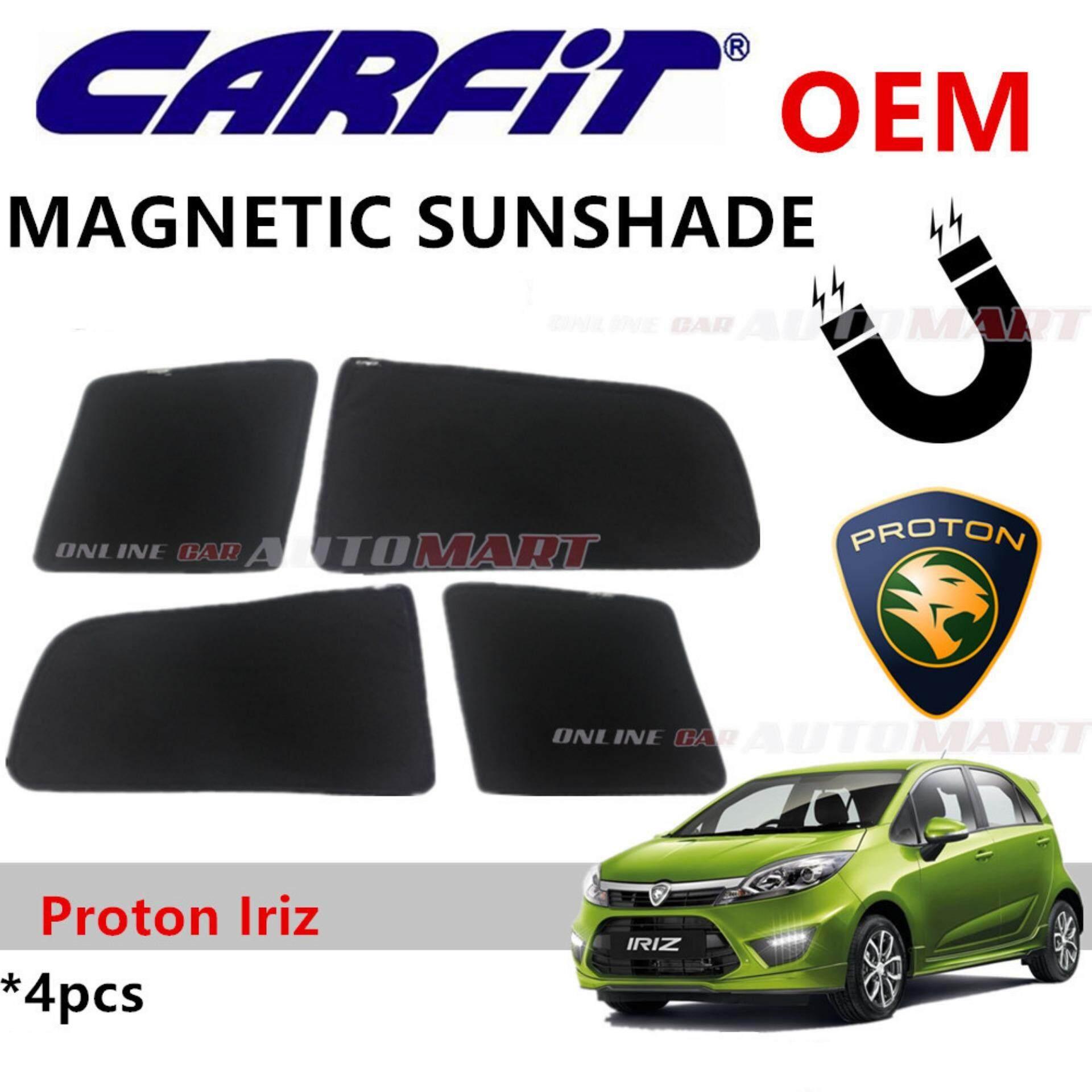 CARFIT OEM Magnetic Custom Fit Sunshade For Proton Iriz (4pcs Sets)