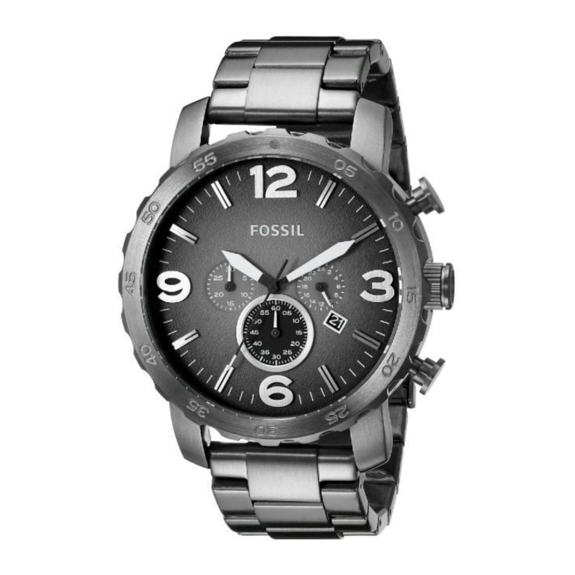 Fossil Men Watches Price In Malaysia Best Lazada Mens Chrono Jr1468 Jam Tangan Pria Silver Nate Smoke Grey Dial Ion Plated Watch Jr1437