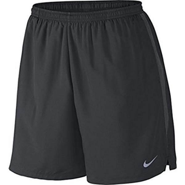 Nike Pria 7 Challenger Lari Celana Pendek/Hitam/Reflektif Perak)-Internasional