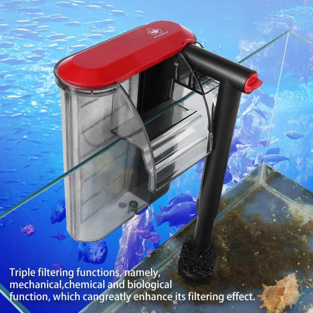 Eksternal Gantung Filter Akuarium Mini Silent Indoor Tangki Ikan Filter (M)-Intl