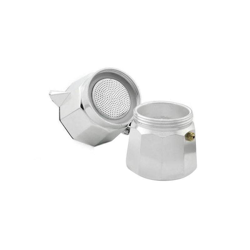 Coffee Stovetop Espresso Maker Moka Pot Octagon Shape Aluminium Coffee Maker - 2 ...