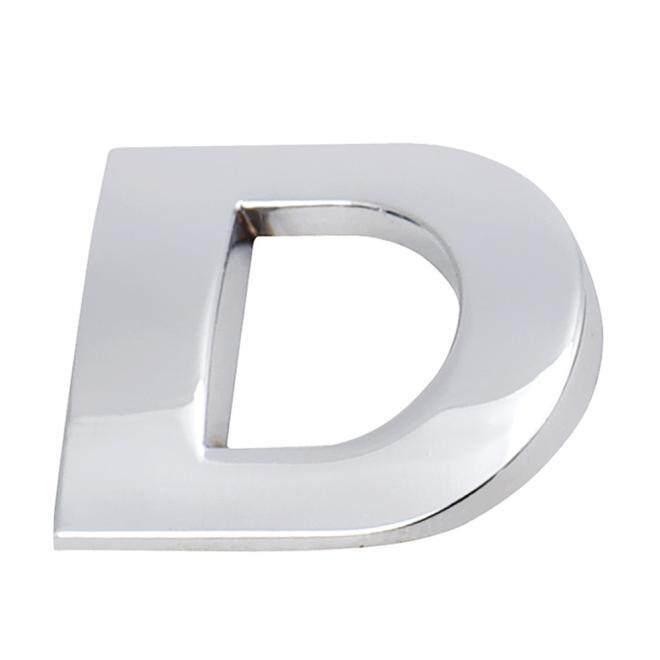 3D DIY Metalik Stiker Tempelan Alfabet Emblem Mobil Huruf Perak Lencana Decal SL A Fanestiy