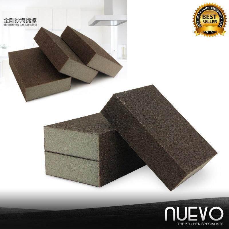 Nuevo 3pcs Kitchen Cleaning High Density Emery Sponge Grinding Emery Grinding Block Sponge Sand Block (Brown)