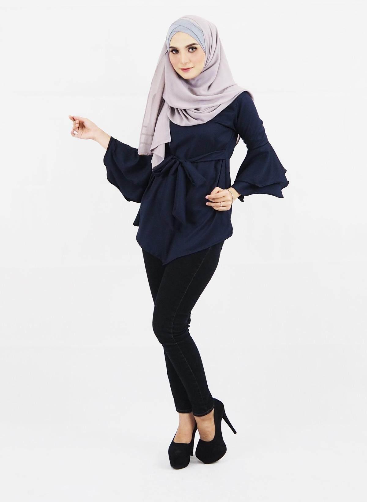 Muslim Women Fashion Blouse / Muslimah Modern Ribbon Blouse / Rola Ribbon Blouse (S-XL)