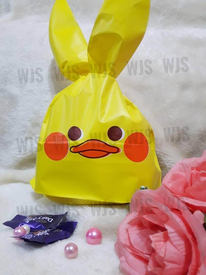 (MULTIPLE SIZES) WJS 50pcs 50 pcs Cute Duckie Duck Quack Goodies Bag