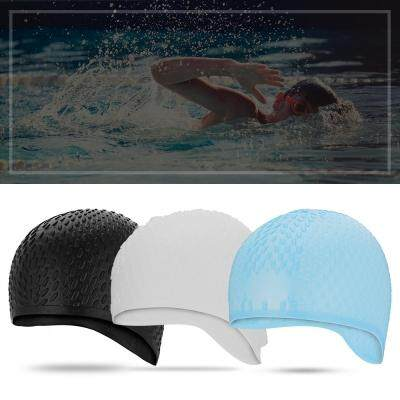 BOIHON BH20 Adult No Pressure Swimming Women Cap (BLACK)
