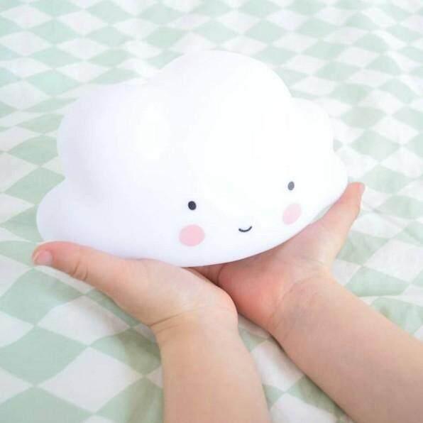 Lightweight Portable Night Light Children Room Nursery Lamp Cloud Face Shape - Intl By Zoahu.