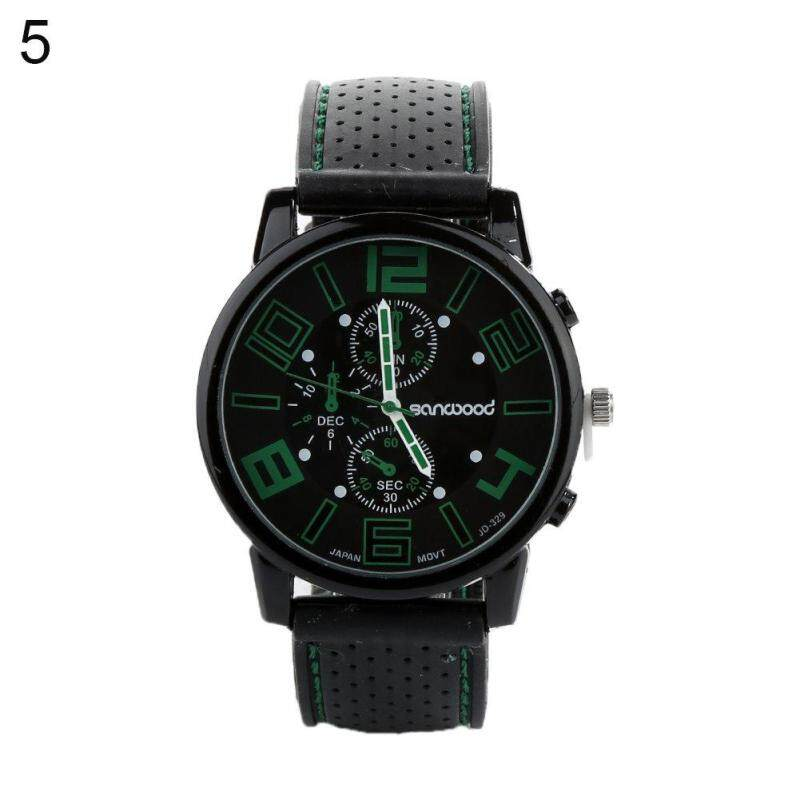 Men's Classic Analog Silicone Band Wristwatch Quartz Analog Sport Casual Wrist Watch Malaysia