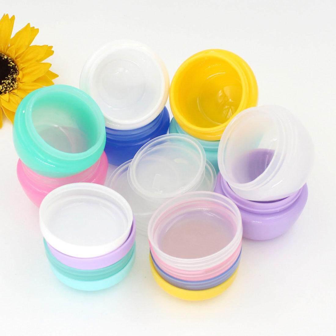 Kosmetik Mini Pot Kosong Pot Radom (Kota) Warna Makeup Tutup Dalam Krim Wajah Bibir Wadah Balsem-Intl