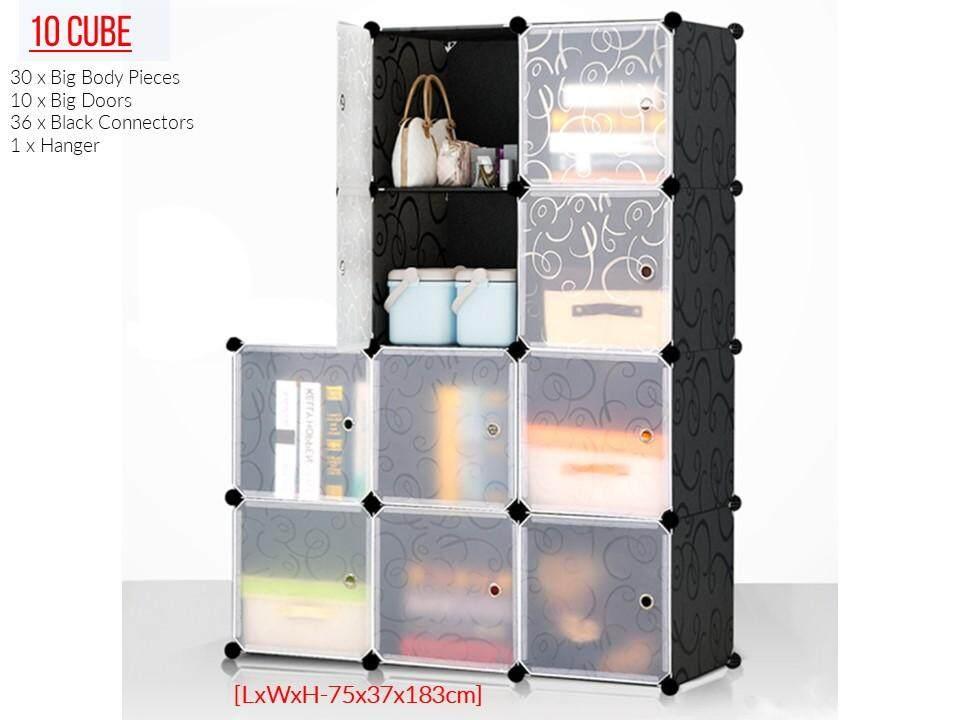 inicio portable diy design clothes stackable 8 cube storage cabinet stackable wardrobe storage. Black Bedroom Furniture Sets. Home Design Ideas