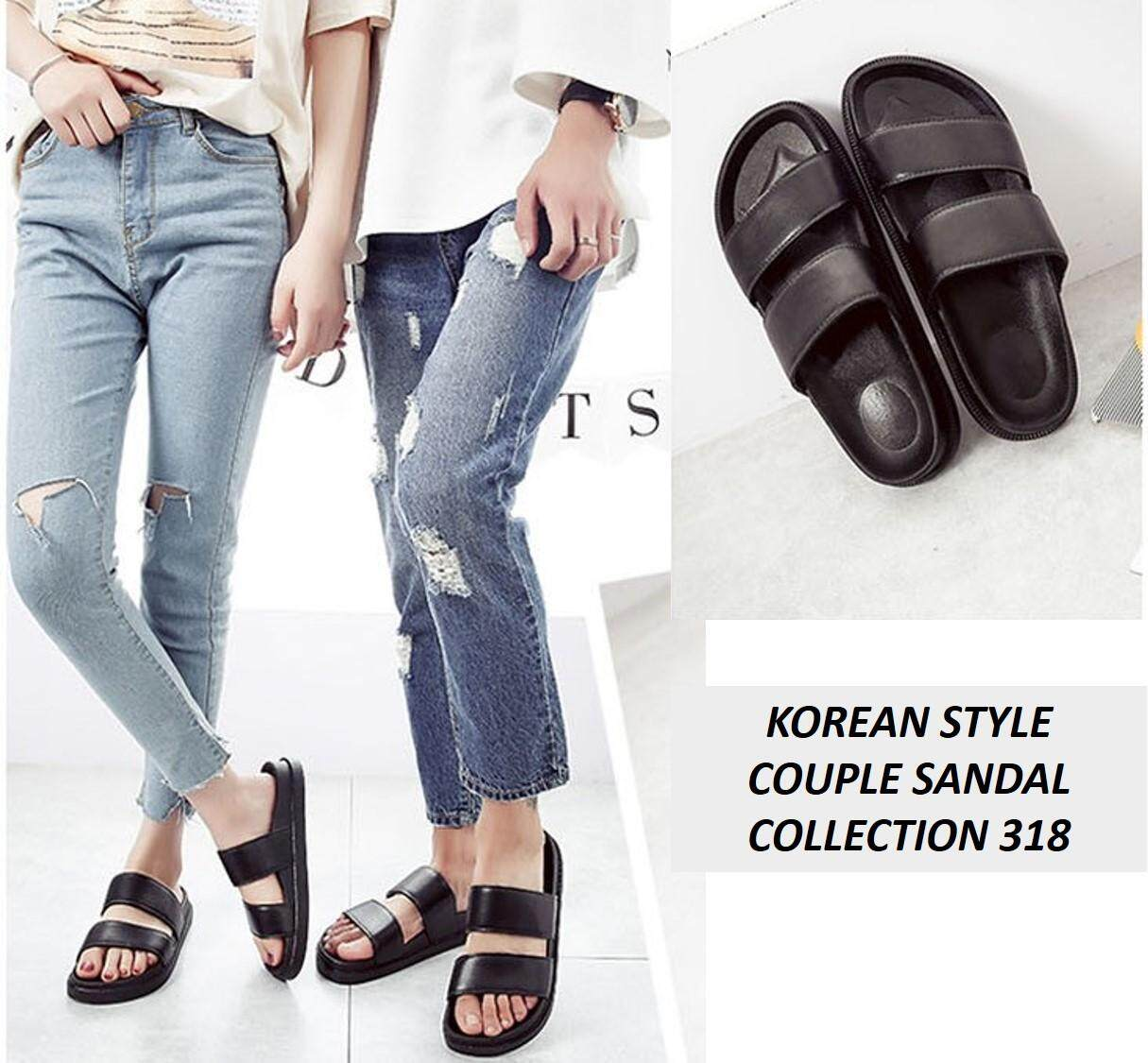 Korean Style Couple Sandal Collection 737-318 (Black)