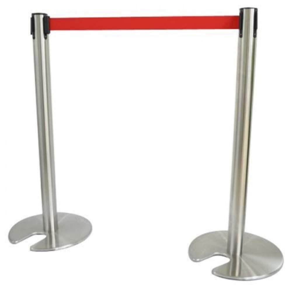 Stainless Steel Stackable Retractable Q - Up Stand - QPT-101/SS (Item No: G05-59)