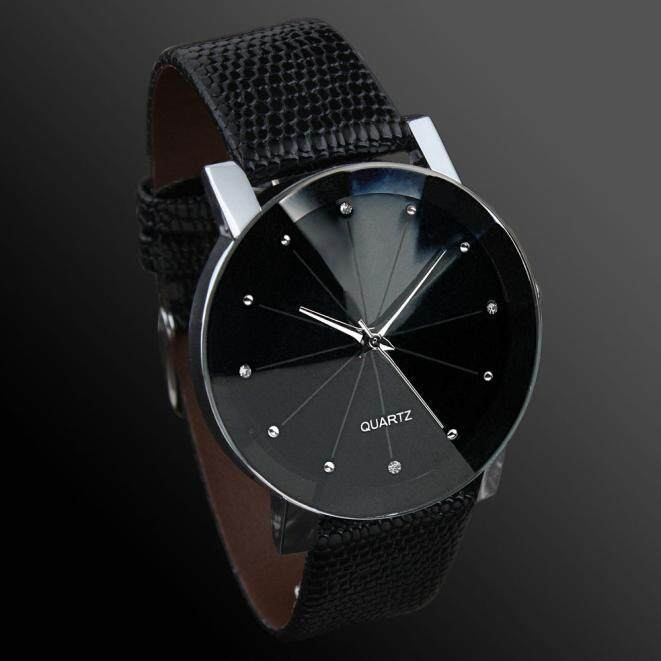 ... Luxury Quartz Sport Military Stainless Steel Dial Leather Band Wrist Watch Men - intl - 3 ...