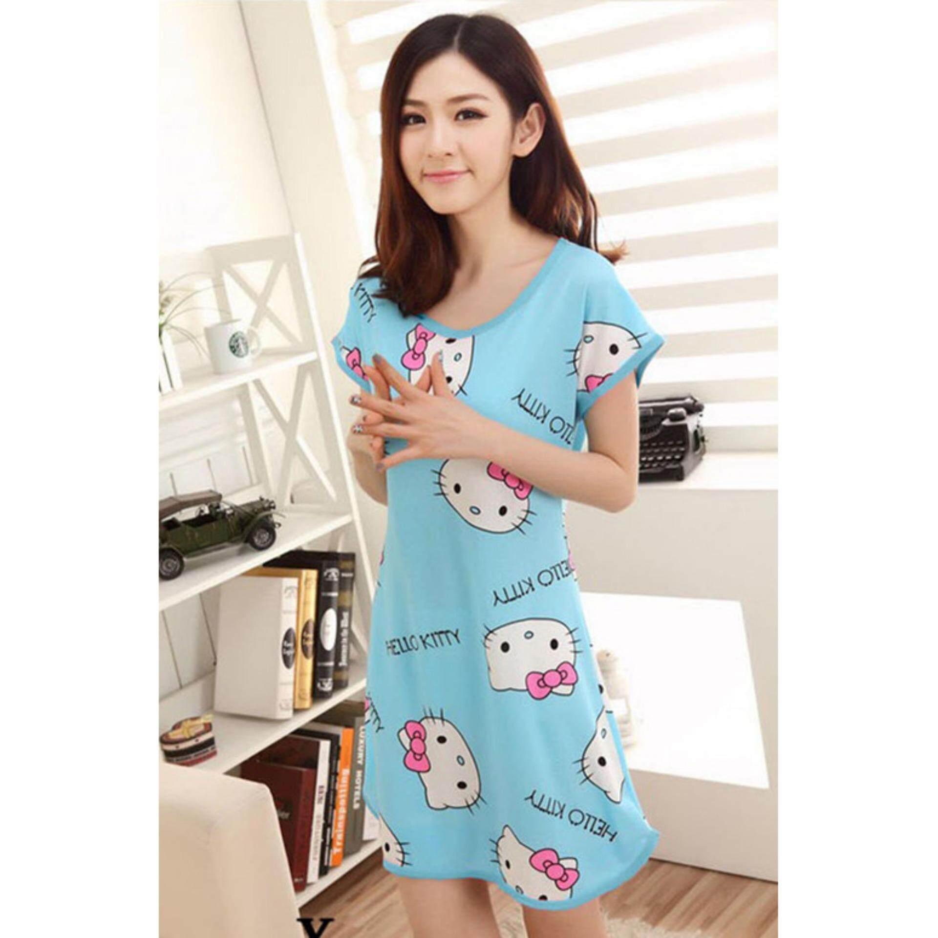 Cute & Comfy Cartoon Nightwear (Hello Kitty Blue) - 1pc