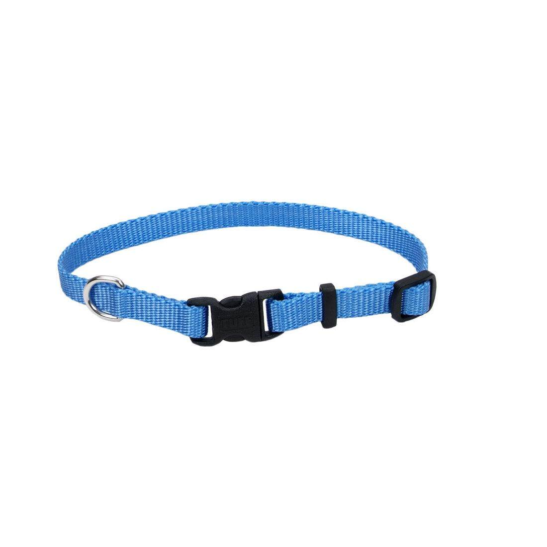 "[Coastal] Adjustable Nylon Dog Collar with Plastic Buckle 5/8"" S - Blue Lagoon"