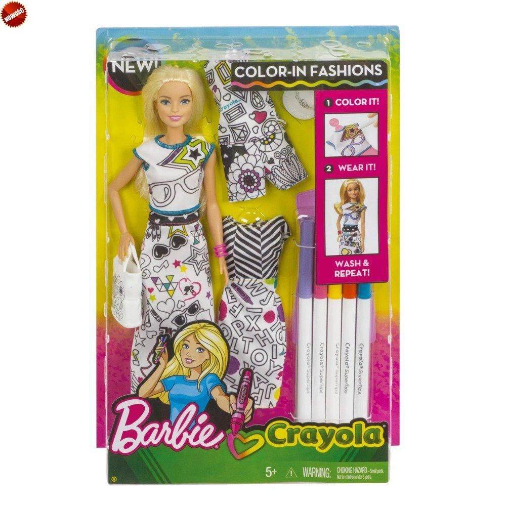[BARBIE] Crayola Colour-In Fashion Doll & Fashions (5 yrs+)